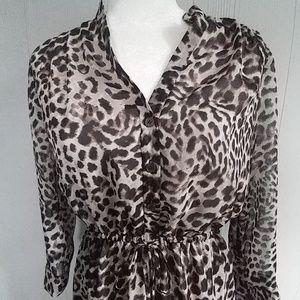 Vince Camuto Animal Print Dress NWT